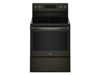 """30"""" Whirlpool 5.3 Cu. Ft. Freestanding Electric Range With Fan Convection Cooking - YWFE550S0HV"""