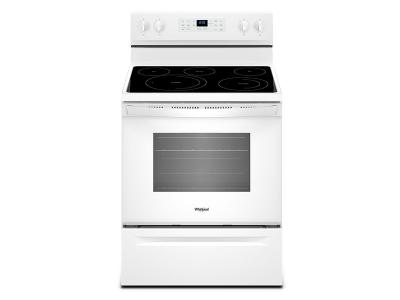 """30"""" Whirlpool 5.3 Cu. Ft. Freestanding Electric Range With Fan Convection Cooking - YWFE550S0HW"""