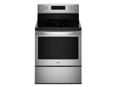 """30"""" Whirlpool 5.3 Cu. Ft. Freestanding Electric Range With Fan Convection Cooking - YWFE550S0HZ"""