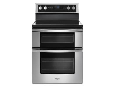 """30"""" Whirlpool 6.7 Cu. Ft. Electric Double Oven Range with True Convection - YWGE745C0FS"""