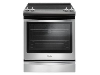 """30"""" Whirlpool 6.4 Cu. Ft. Slide-In Electric Range With True Convection - YWEE745H0FS"""