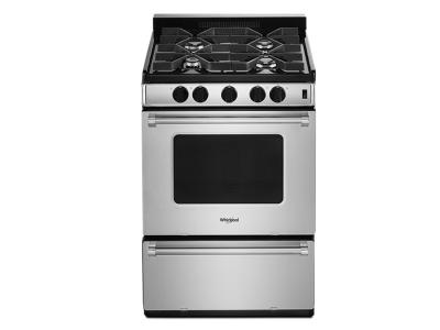"""24"""" Whirlpool Freestanding Gas Range with Sealed Burners - WFG500M4HS"""