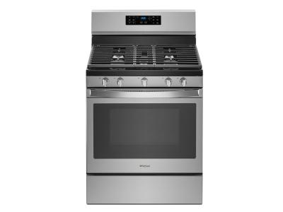 """30"""" Whirlpool 5.0 Cu. Ft. Freestanding Gas Range With Fan Convection Cooking - WFG550S0HZ"""