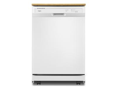 """24"""" Whirlpool Heavy-Duty Dishwasher With 1-Hour Wash Cycle - WDP370PAHW"""