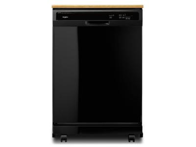"""24"""" Whirlpool Heavy-Duty Dishwasher With 1-Hour Wash Cycle - WDP370PAHB"""
