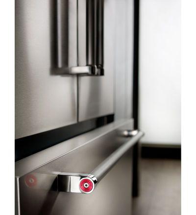 "42"" KitchenAid 24.2 Cu. Ft. Built-In Stainless French Door Refrigerator with Platinum Interior Design - KBFN502ESS"