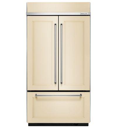 "42"" KitchenAid 24.2 Cu. Ft.  Built-In Panel Ready French Door Refrigerator with Platinum Interior Design - KBFN502EPA"