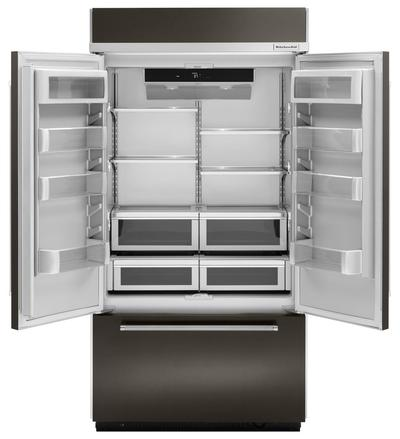 "42"" KitchenAid 24.2 Cu. Ft. Built-In Stainless French Door Refrigerator With Platinum Interior Design - KBFN502EBS"