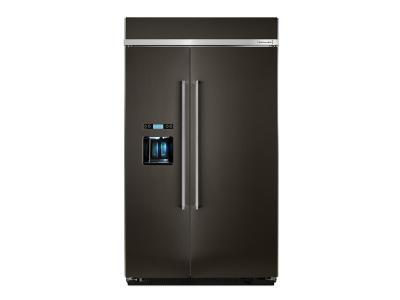 "48"" KitchenAid 29.5 Cu. Ft. Built-In Side by Side Refrigerator - KBSD608EBS"