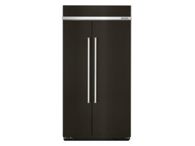 "42"" KithenAid 25.5 Cu. Ft. Built-In Side by Side Refrigerator With PrintShield Finish - KBSN602EBS"