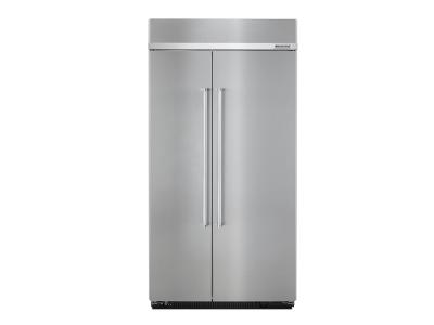 "42"" KitchenAid 25.5 Cu. Ft. Built-In Side by Side Refrigerator - KBSN602ESS"