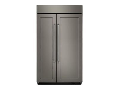 "42"" kitchenAid 25.5 Cu. Ft. Built-In Side by Side Refrigerator - KBSN602EPA"