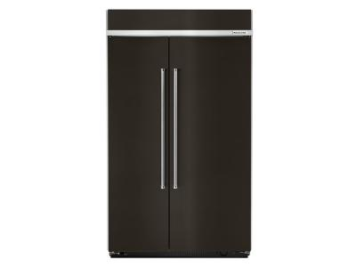 "48"" KitchenAid 30.0 Cu. Ft. Built-In Side by Side Refrigerator With PrintShield Finish - KBSN608EBS"