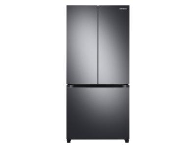 """33"""" Samsung Freestanding French Door Refrigerator With Built- In Look In Fingerprint Resistant Black Stainless Steel - RF18A5101SG"""