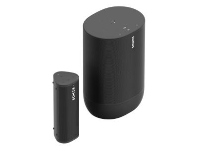 Sonos Portable Sound Set With Move And Roam In Shadow Black - Portable Set with Move & Roam (B)