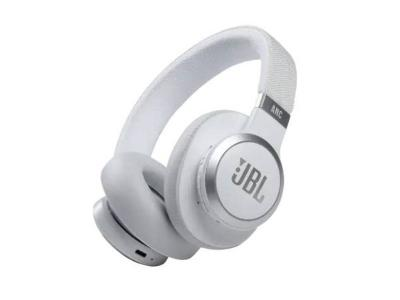 JBL Wireless Over-ear Noise Cancelling Headphones in White - Live 660NC (W)