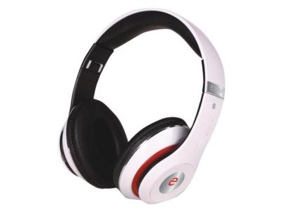 Escape Bluetooth Headset With Microphone and Fm Radio In White - BT-S15