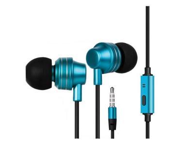 Escape Hands-free Earphones With Microphone In Metallic Blue - EHP253