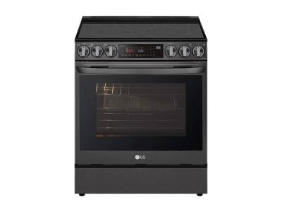 """30"""" LG 6.3 cu ft. Capacity Smart Wi-Fi Enabled ProBake Convection Electric Slide-in Range - LSEL6335D"""