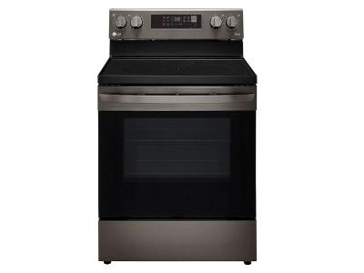 """30"""" LG 6.3 Cu. Ft. Smart Wi-Fi Enabled Fan Convection Electric Range With Air Fry And EasyClean In Black Stainless Steel - LREL6323D"""