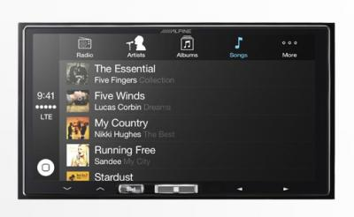 "Alpine 7"" Mech-less In-Dash Receiver with Wireless Apple CarPlay iLX-107"