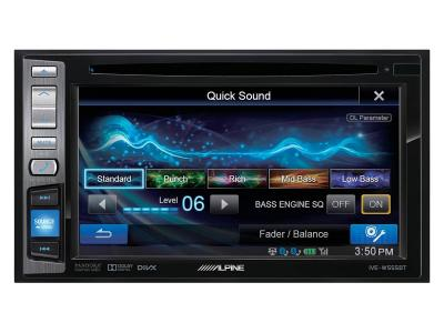 Alpine Double DIN DVD Receiver With Bluetooth - IVE-W555BT