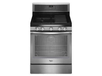 """30"""" Whirlpool Freestanding Gas Range With 4 Sealed Burners - WFG710H0AS"""