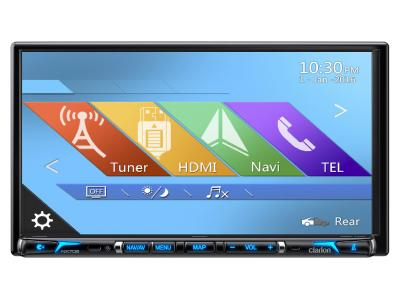 Clarion 2-DIN DVD Multimedia Station With Built-in Navigation And 7-inch Touch Panel Control - NX706