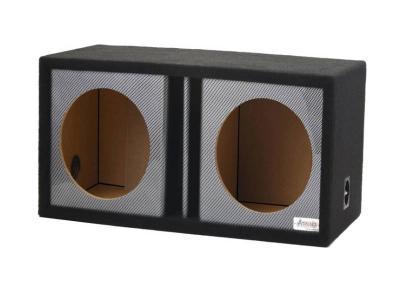Atrend 12 Inch Dual Vented Black Carbon Fiber Enclosure - 12DVR
