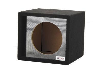 Atrend 15 Inch Single Vented Black Carbon Fiber Enclosure - 15SVR