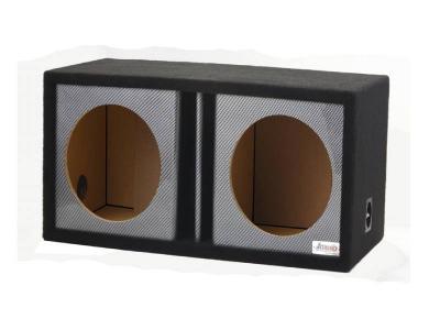 Atrend 10 Inch Dual Vented Black Carbon Fiber Enclosure - 10DVR