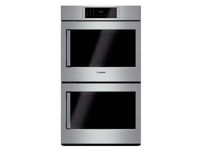 """30"""" Bosch Benchmark  Series Double Wall Oven With Right Swing Door In Stainless Steel - HBLP651RUC"""