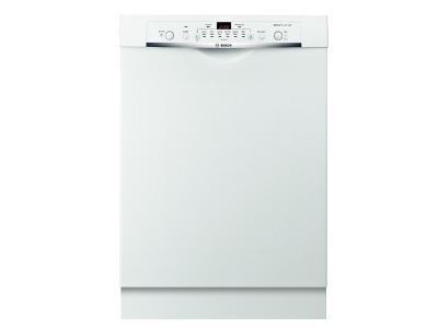 24' Bosch Recessed Handle Ascenta Dishwasher In White - SHE3AR72UC