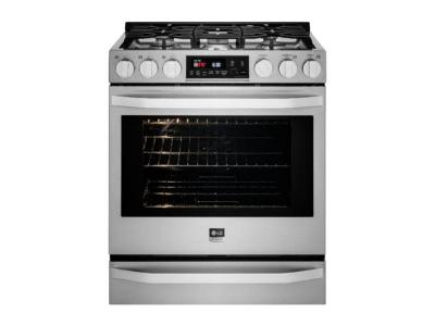 """30"""" LG STUDIO 6.3 Cu.Ft. Capacity Slide-In Gas Range With ProBake Convection - LSSG3016ST"""