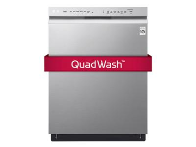 48 dB LG Front Control Dishwasher with QuadWash and Inverter DirectDrive Motor LDF5545ST