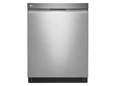 """24"""" LG Top Control Dishwasher with QuadWash and Height Adjustable 3rd Rack - LDP6797ST"""