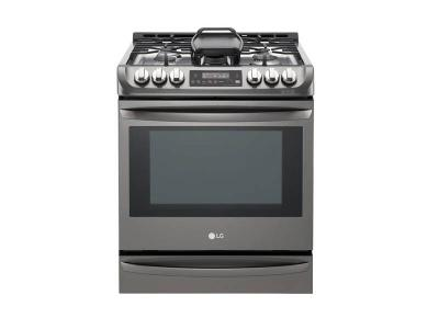 """30"""" LG 6.3 cu. ft. Black Stainless Steel Series Gas Slide In Range With  ProBake Convection - LSG5513BD"""