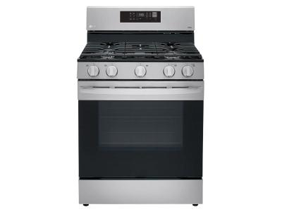 """30"""" LG 5.8 Cu. Ft. Smart Wi-Fi Enabled Fan Convection Gas Range With Air Fry And EasyClean - LRGL5823S"""