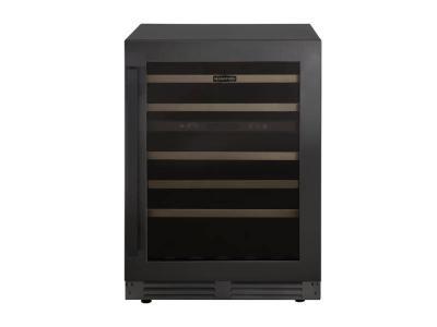 "24"" Marathon Built-in Dual Zone Wine Cooler in Black Steel - MWC56-DBLS"