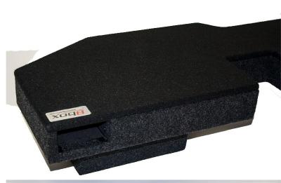 Atrend Single 10 Inch Mass Loaded Vented Carpeted Subwoofer Enclosure - A201-10CPV