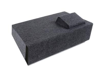 Atrend Single 10 Inch  Vented Carpeted Subwoofer Enclosure - A181-10CPV