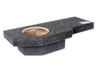 Atrend Single 12 Inch Sealed Carpeted Subwoofer Enclosure - A201-12CP