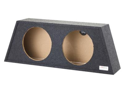 Atrend Dual 12 Inch Sealed Carpeted Subwoofer Enclosure - A212-12CP