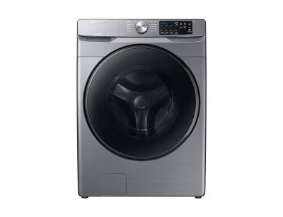 """27"""" Samsung 5.2 Cu. Ft. Smart Front Load Washer With Large Capacity in Platinum - WF45R6100AP"""