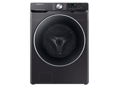 """27"""" Samsung 5.2 cu. ft. Smart Front Load Washer With Super Speed In Black Stainless Steel - WF45R6300AV"""