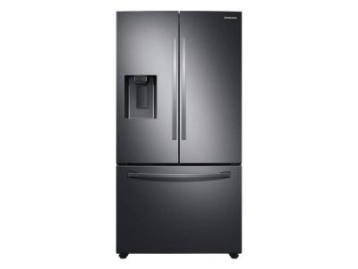"""36"""" Samsung 27 Cu. Ft. French Door With SpaceMax Technology In Black Stainless Steel - RF27T5201SG"""