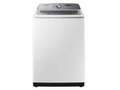 """28"""" Samsung 5.8 Cu. Ft. Top Load Washer With Active WaterJet In White - WA50R5200AW"""