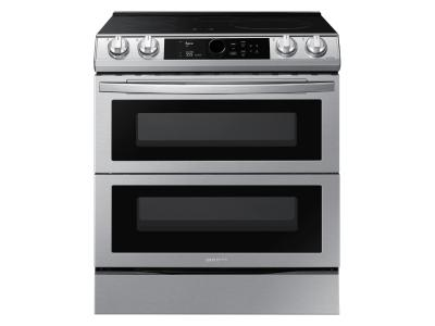 """30"""" Samsung 6.3 Cu. Ft. Dual Door Induction Range With Wi-Fi And Air Fry - NE63T8951SS"""