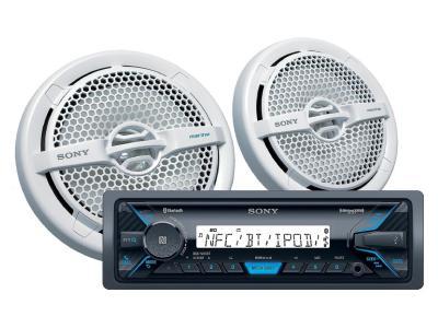 Sony Media Receiver And Marine Speaker Bundle - DXSM5511BT
