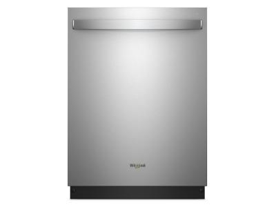 """24"""" Whirlpool Stainless Steel Tub Dishwasher With TotalCoverage Spray Arm - WDT750SAHZ"""